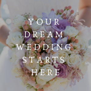 Dream Wedding Starts Here Button