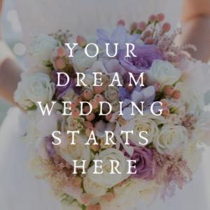 Dream Wedding Starts Here Button