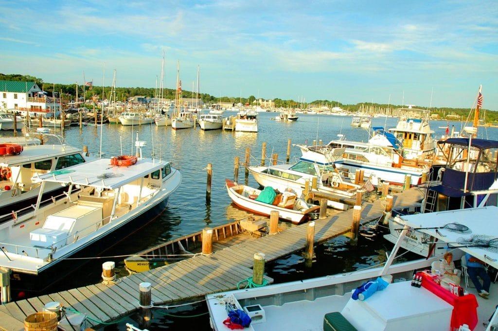 harbor near the chesapeake bay maritime museum