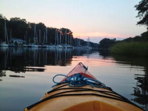 Kayaking on a Quiet Cove on the Chesapeake Bay
