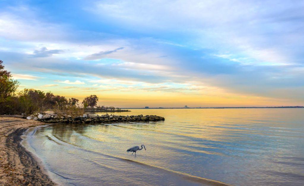 sunset on chesapeake bay