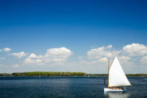 Sailboat in St Michaels Maryland